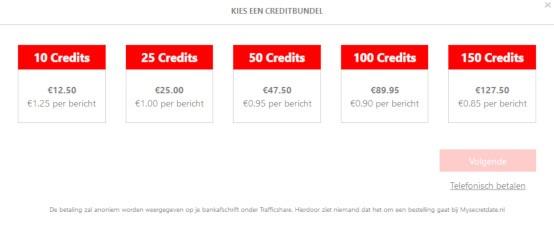 Mysecretdate credits kopen