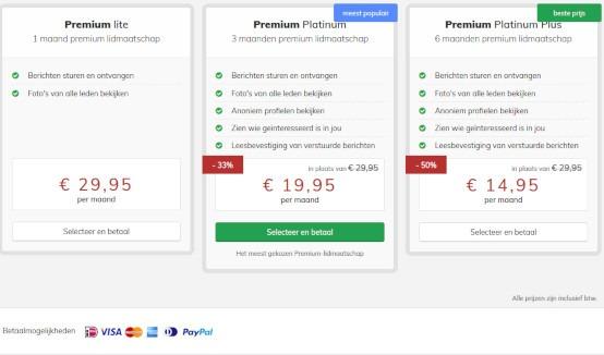 Vijftigplusdating prijs premium lidmaatschap